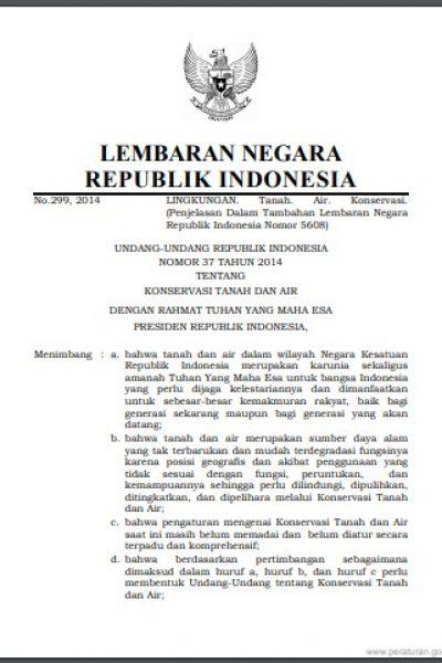 UU No 37 2014 Tentang KTA